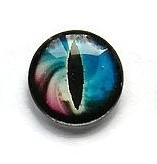 Dragon Eye 003, 18mm Glas Cabochon Rond