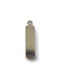 Tag rechthoek aluminium met oogje Premium
