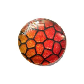 Dragon Skin 014, 25mm Glas Cabochon Rond