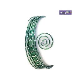 AluDeco Wire 2mm Dark Green Diamond Cut (5m)