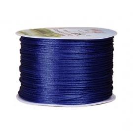 Satijnkoord Donker Blauw 1mm dik