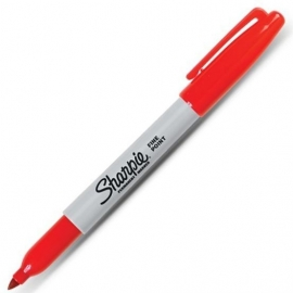 Sharpie Permanent Marker Fine Point Rood