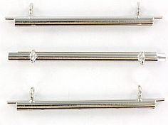 Miyuki Slide End Tubes Silver 35mm (set 2st.)