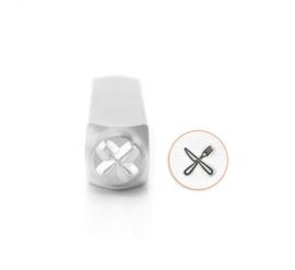 Design stempel Fork & Knife 6mm ImpressArt