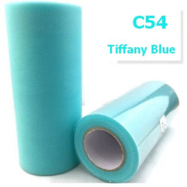 Tule Tiffany Blue 15cm breed  rol 22 meter C54