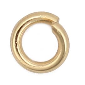 304 RVS Jump Ringen Goldplated 4mm