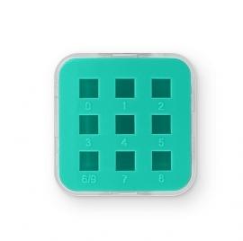 Lege case voor slagcijfers 3mm Teal 9 slots ImpressArt