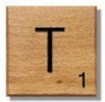 Houten Scrabble Letter T