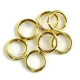 Jump ring gold plated 6mm