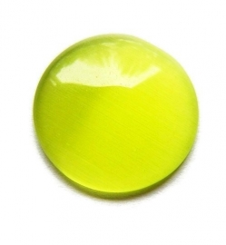Cat Eye Cabochon Olijf Groen 18mm Rond