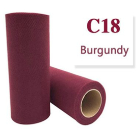 Tule Burgundy 15cm breed  rol 22 meter C18