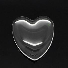 Glas cabochon Hart 25 mm