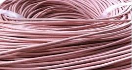Koord Leatheroid 2mm dik Licht Roze