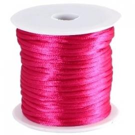 Satijn koord Fuchsia Roze 2mm dik