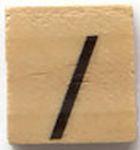 Houten Scrabble Symbool /