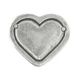Heart Border Large Pewter