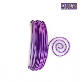 AluDeco Wire 2mm Lilac Embossed (5m)