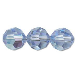 Swarovski kralen rond 4mm Light Sapphire AB (10st.)