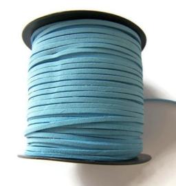 Faux Suede Licht Blauw 3mm