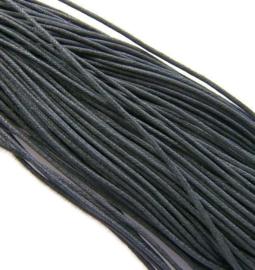 Waxkoord Zwart 2mm