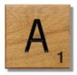 Houten Scrabble Letter A