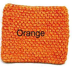 Gehaakte Top Orange M  (maat 86 t/m 116)