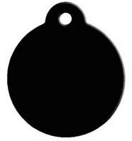 Rond Black aluminium