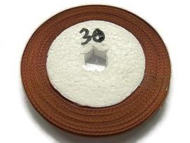 No.30 Hazelnoot Bruin Satijnlint 6mm (per rol)
