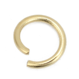 RVS Jump ring Goldplated 5mm