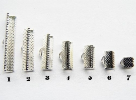 Lintklemmetje Silver Plated 35x8mm NO.1