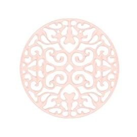 Bohemian tussenzetsel / hanger licht roze