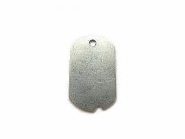 Militairy Dogtag aluminium 32x19mm
