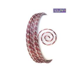 AluDeco Wire 2mm Oxblood Diamond Cut (5m)