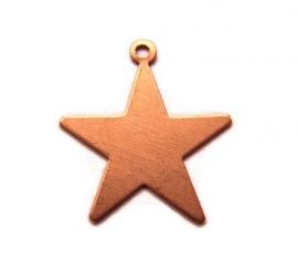 Tag ster met oogje Rose Koper