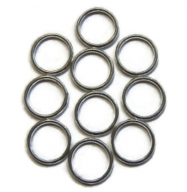 Gesloten Jump ring zilverkleur 16mm (25st)