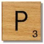 Houten Scrabble Letter P