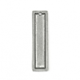 Rectangle Border Large Pewter