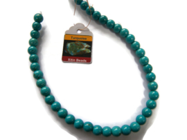 Howliet Turquoise Blue kraal rond 10mm per streng