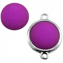 Cabochon Polaris matt 15 mm Amethyst paars