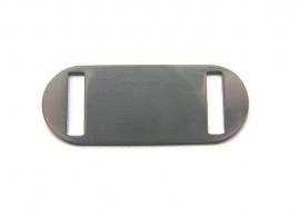 Connector slider tag aluminium Ovaal