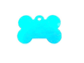 Dog Bone Aqua Blue aluminium