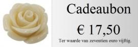 Cadeaubon 17,50 euro