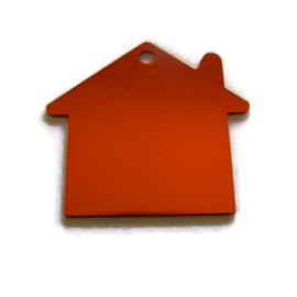 Tag Huisje Oranje/Rood aluminium