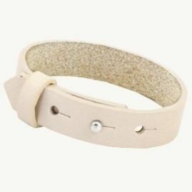 Cuoio Armband Leer 15mm Cream Ivory Beige