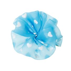 Applicatie Bloem Blauw Met Hartjes