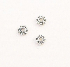 Spacer metal Tiny Daisy 4mm (10st.)