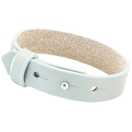 Cuoio Armband Leer 15mm Grayed Sea Green