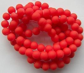 Mat met rubberlaagje Rood 8mm, per streng