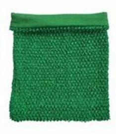 Gehaakte Top GEVOERD Green M+  (maat 116 t/m 134)