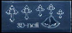 Mini Mal Kruisjes en Klokken Transparant